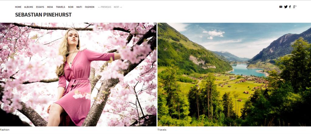 Exemple de site basé sur Koken